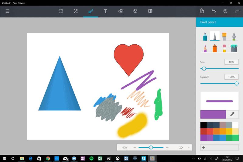 Microsoft komt met uitgebreide nieuwe mogelijkheden in Paint