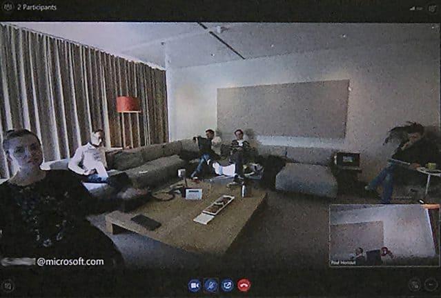 Microsoft Surface Hub foto laptopscherm