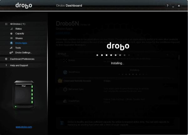 drobo-app-install