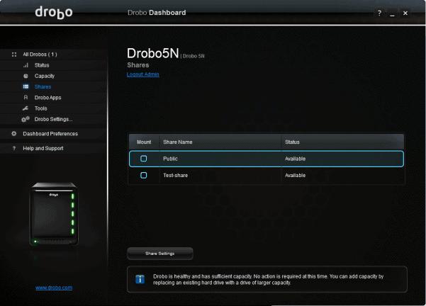 drobo-shares