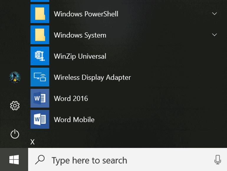 Microsoft toont nieuwe look van startmenu Windows 10