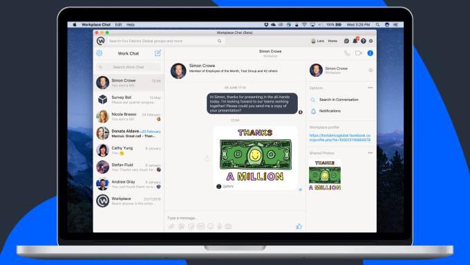 Facebook Workplace komt met screen sharing functie naar de desktop