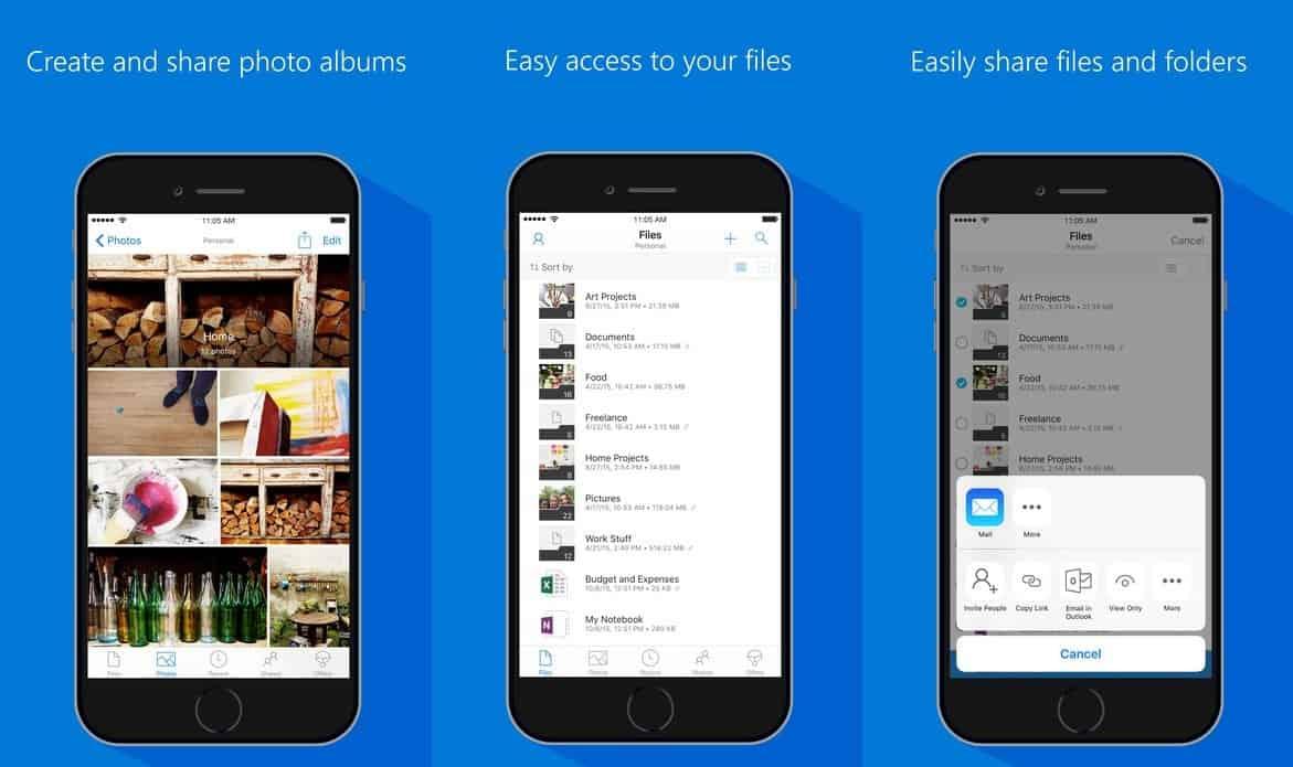 Microsoft maakt iOS-app OneDrive geschikt voor gezichtsherkenning