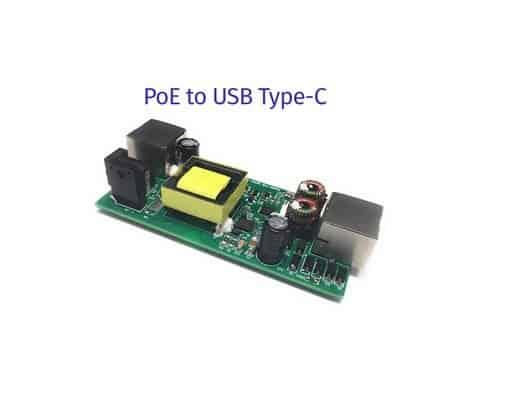 PoE Texas combineert usb type-C met PD en PoE