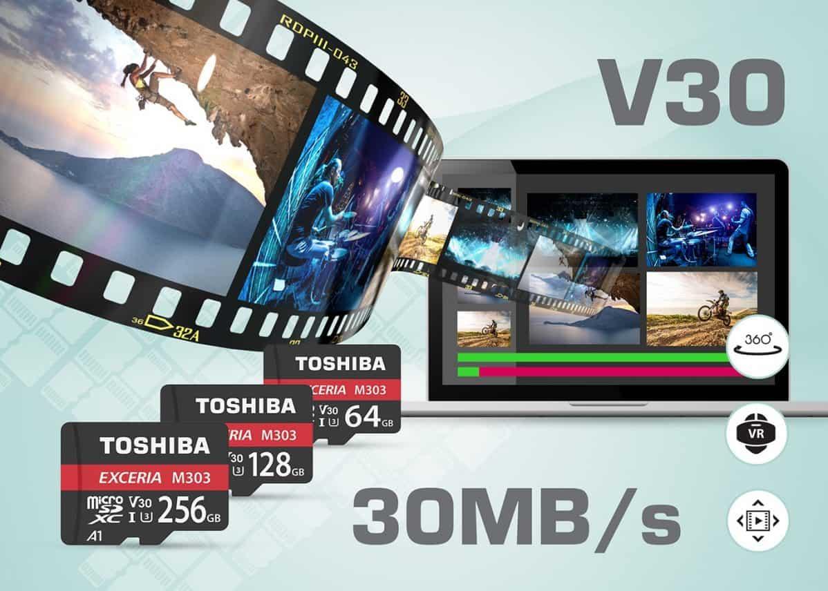 Toshiba kondigt microSDXC-kaart M303 aan