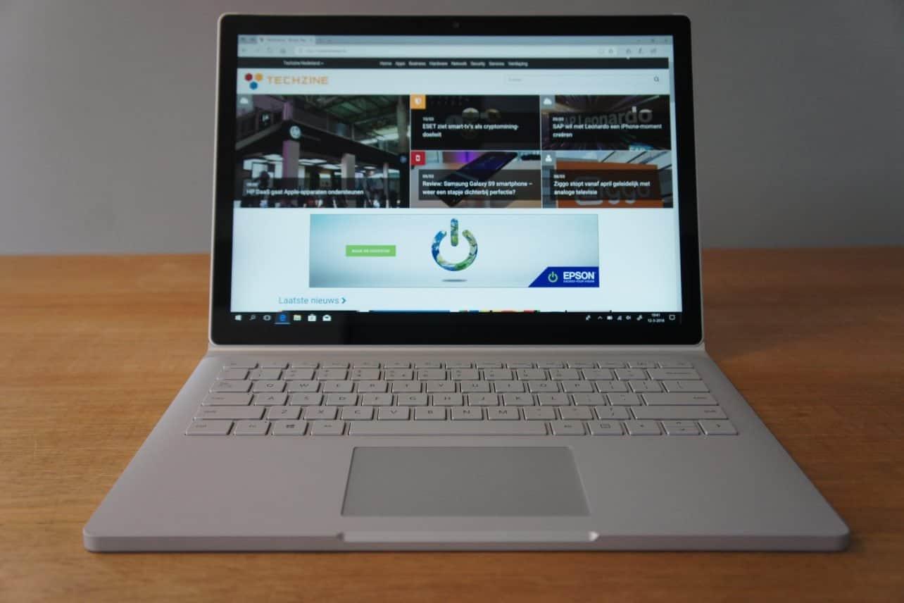 Microsoft maakt 15-inch Surface Book 2 beschikbaar