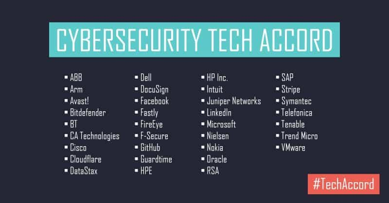 Facebook, Microsoft en andere techgiganten sluiten security-akkoord