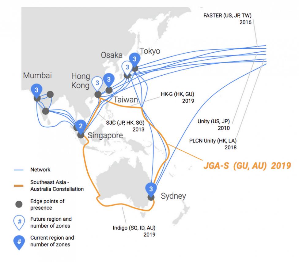 Google kondigt nieuwe onderzeese kabels aan
