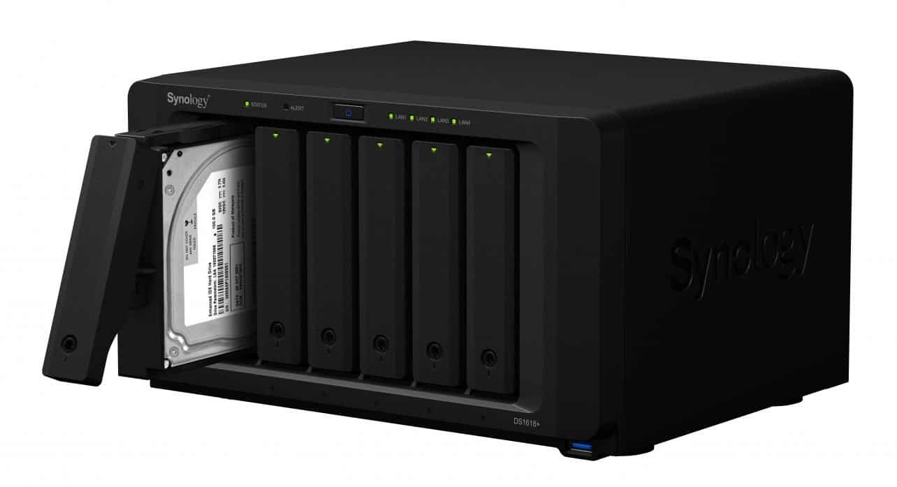 Synology introduceert NAS-systeem DiskStation DS1618+ met zes sleuven