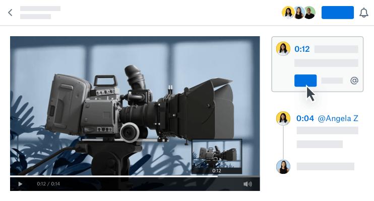 Dropbox laat je nu op specifieke momenten in video's reageren