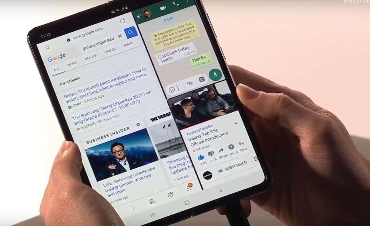 Samsung Galaxy Fold-schermen na twee dagen kapot bij reviewers