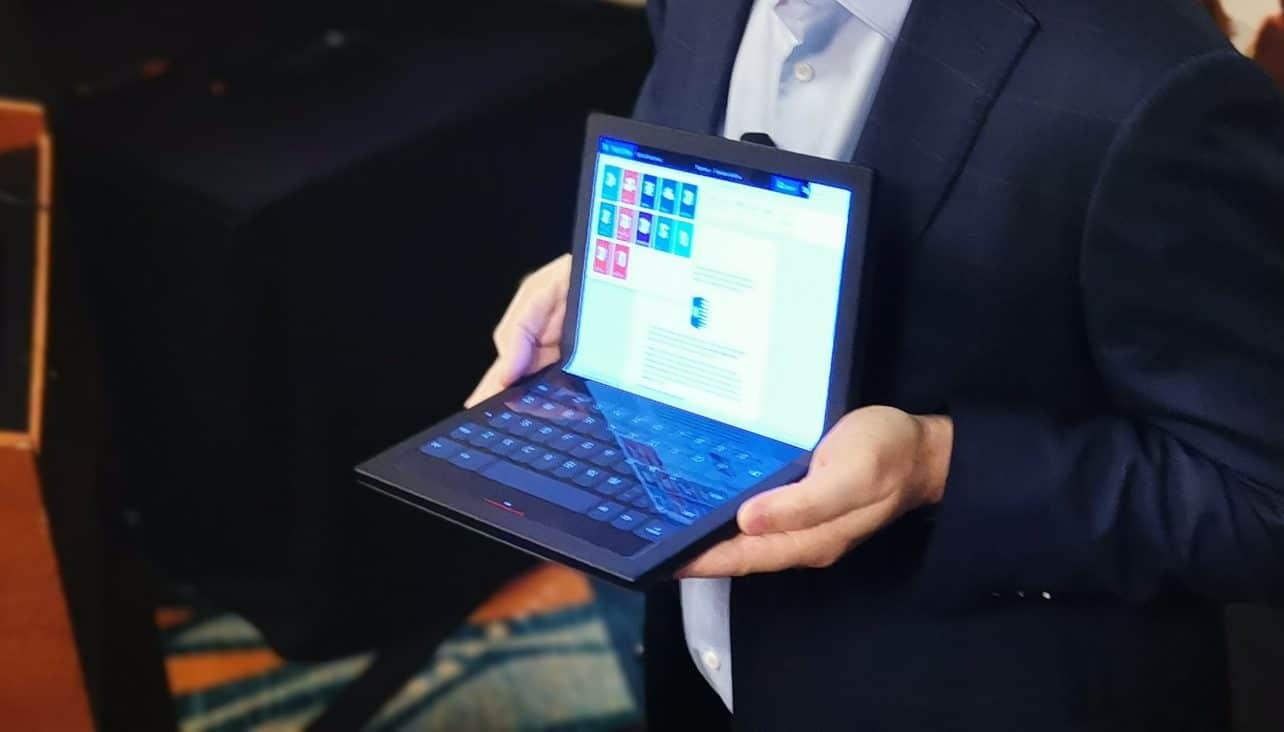Lenovo onthult 'eerste opvouwbare pc ter wereld'