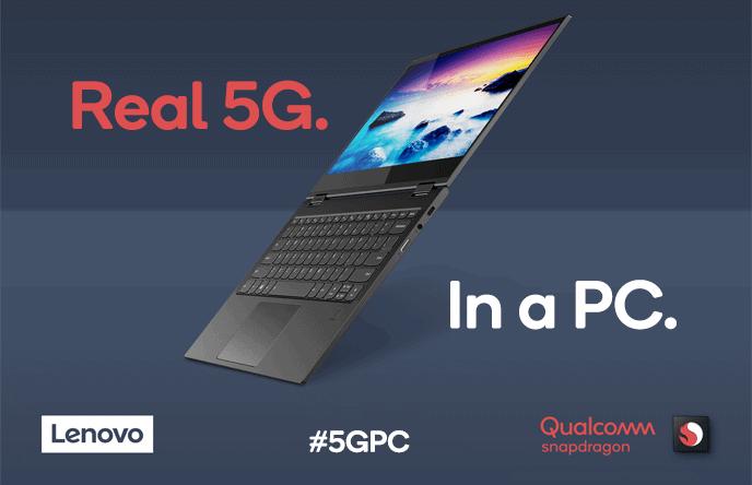 Qualcomm en Lenovo onthullen eerste 5G PC met Snapdragon-chip