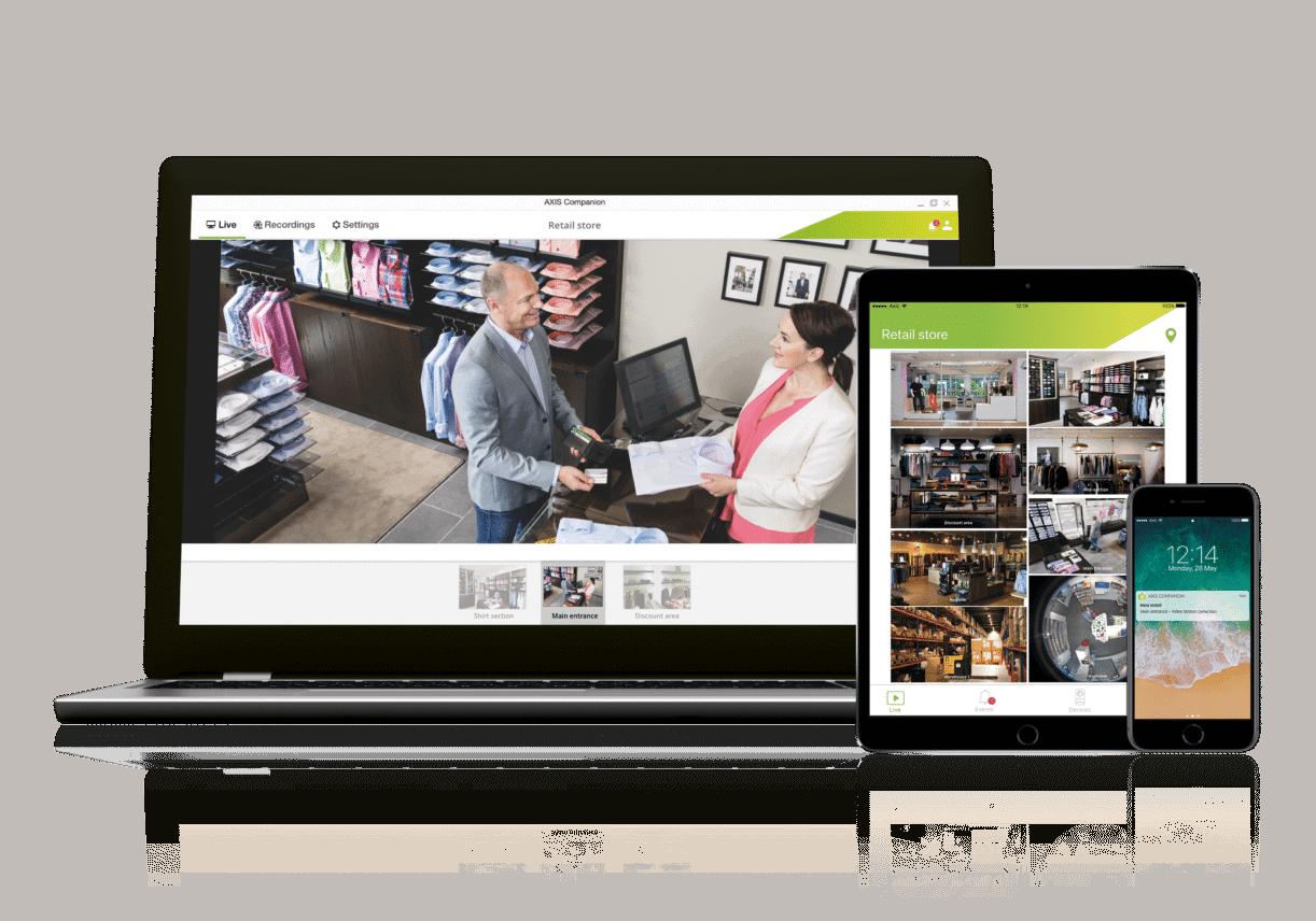 Axis Companion 4 voor videomanagement levert real-time notificaties