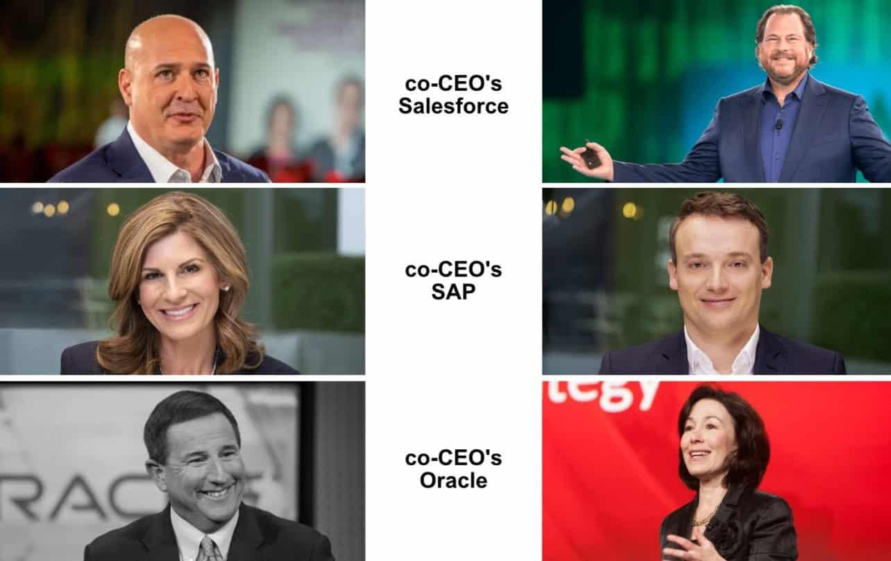 Oracle, Salesforce en SAP bewijzen dat co-CEO niet werkt