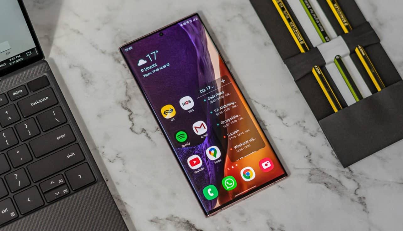 Samsung Galaxy Note 20 Ultra review scherm