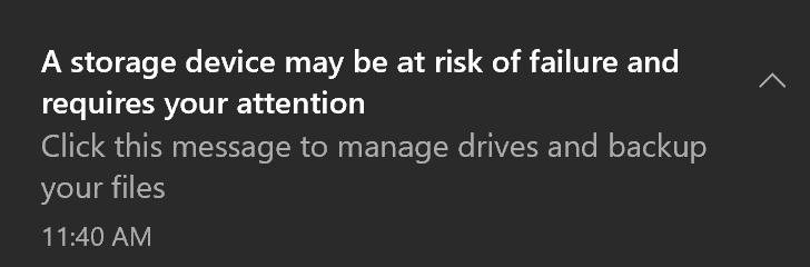 drive failure