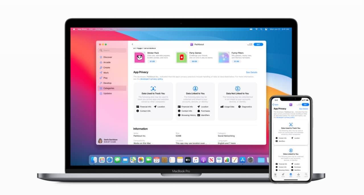 Apps in Apple App Store moeten gebruikte privacygegevens vermelden