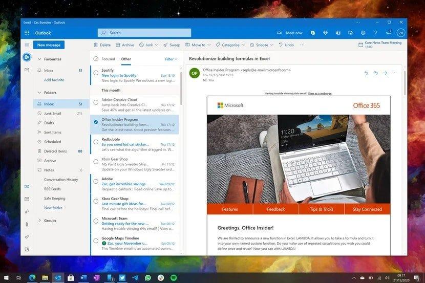 Microsoft werkt aan nieuwe Outlook-app voor Windows en macOS
