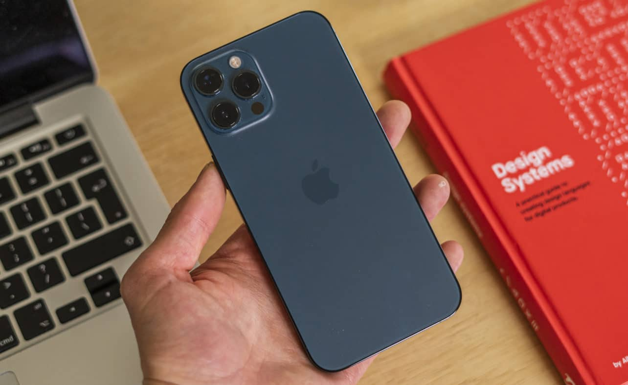 Apple iPhone 12 Pro Max in hand