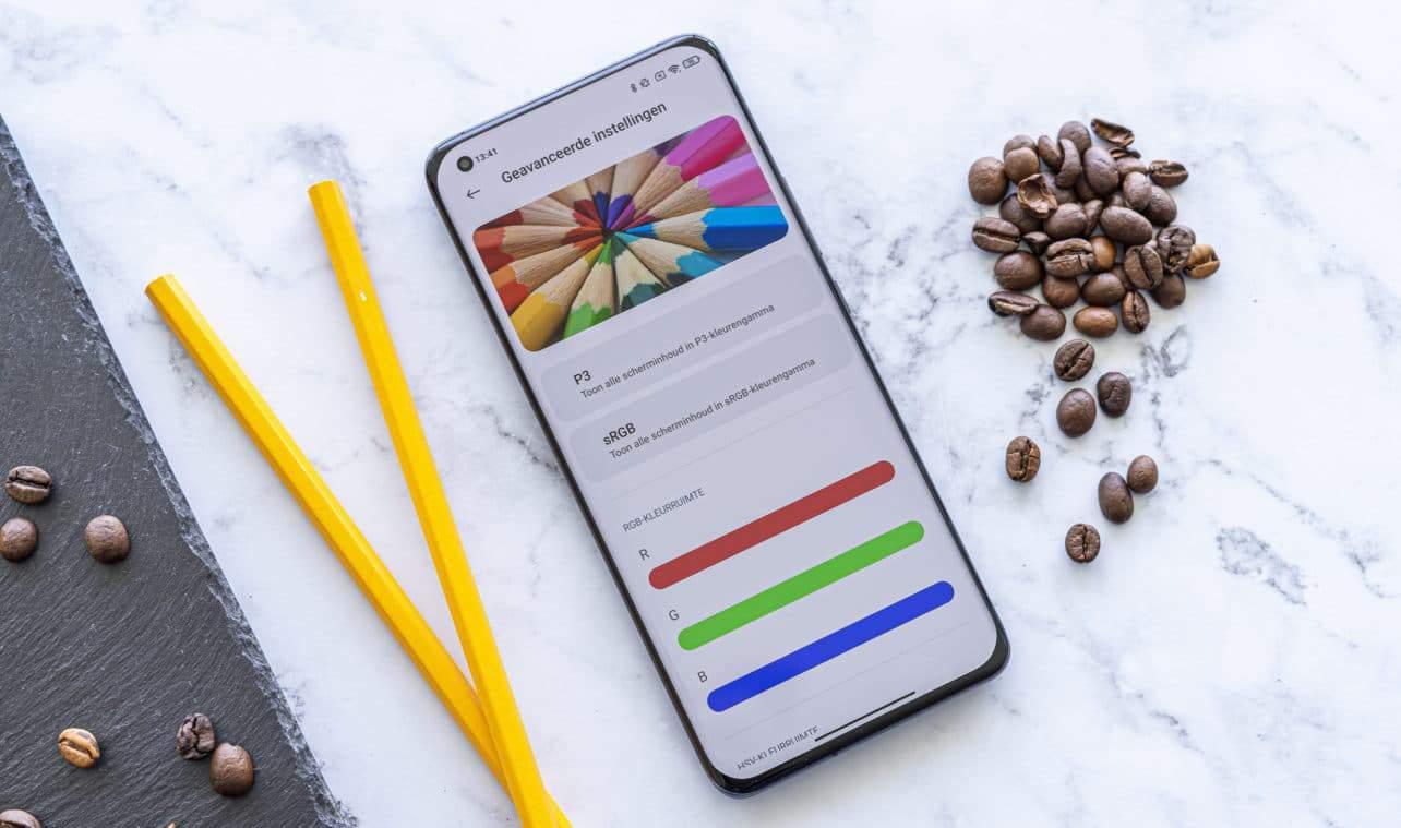 Xiaomi Mi 11 review schermkalibratie