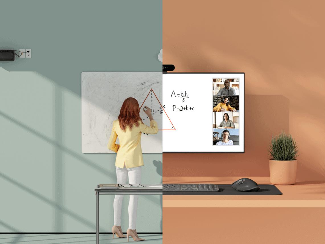 Logitech introduceert whiteboard camera Scribe