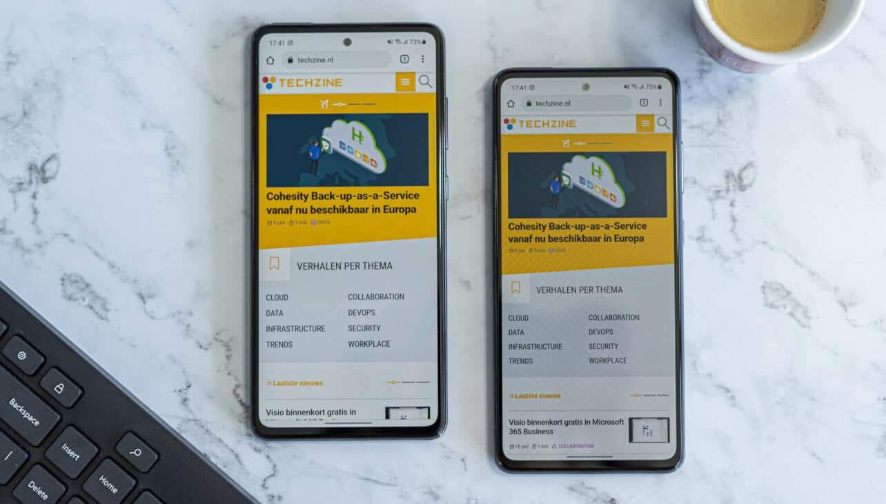 Samsung Galaxy A52 en Galaxy A72 Techzine