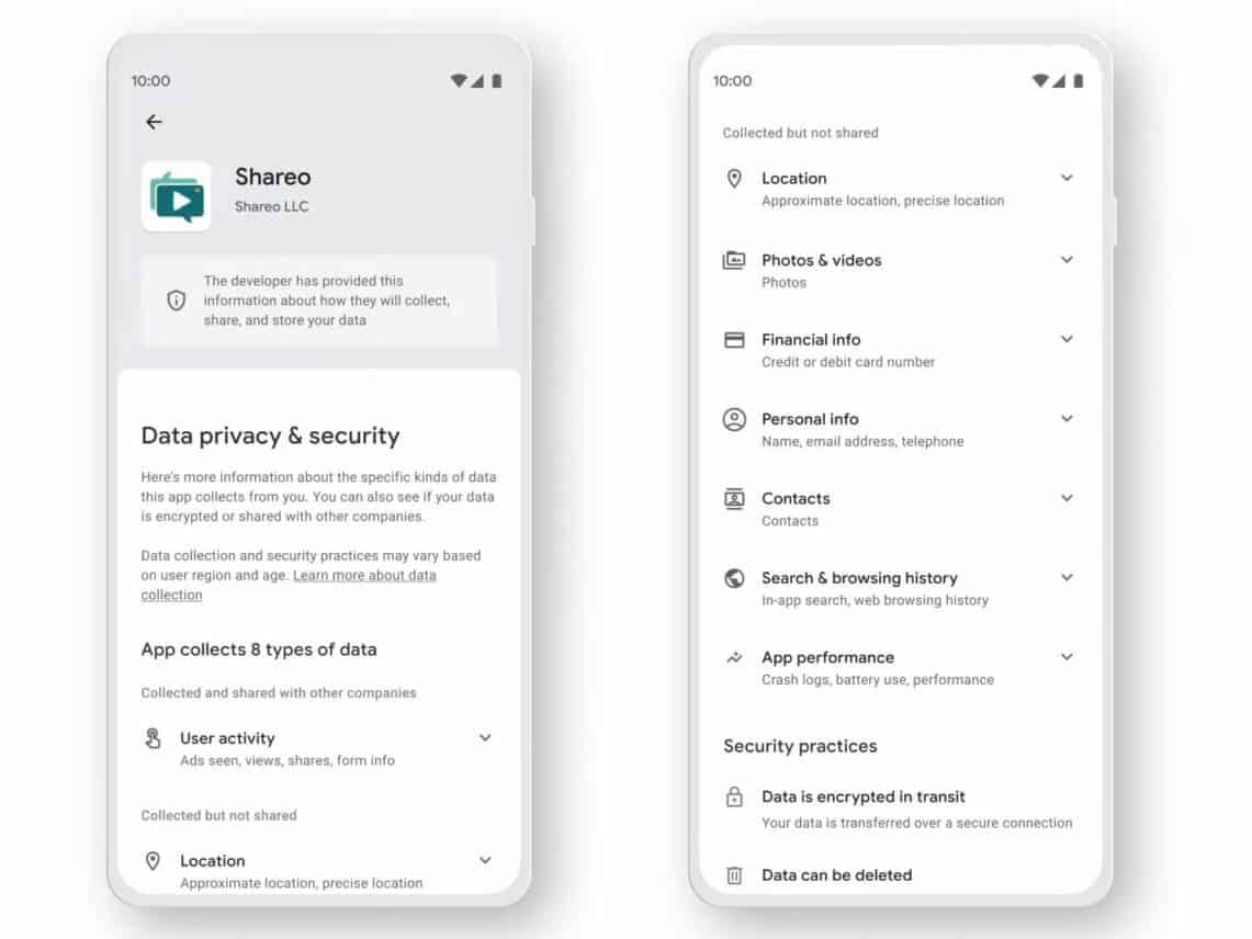 Apps in Google Play vereisen straks privacy labels