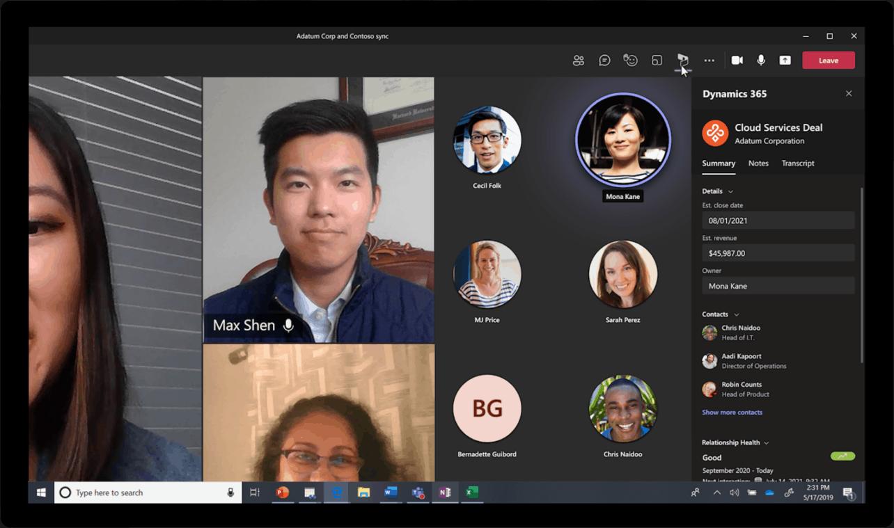 Microsoft integreert Dynamics 365 verder in Teams