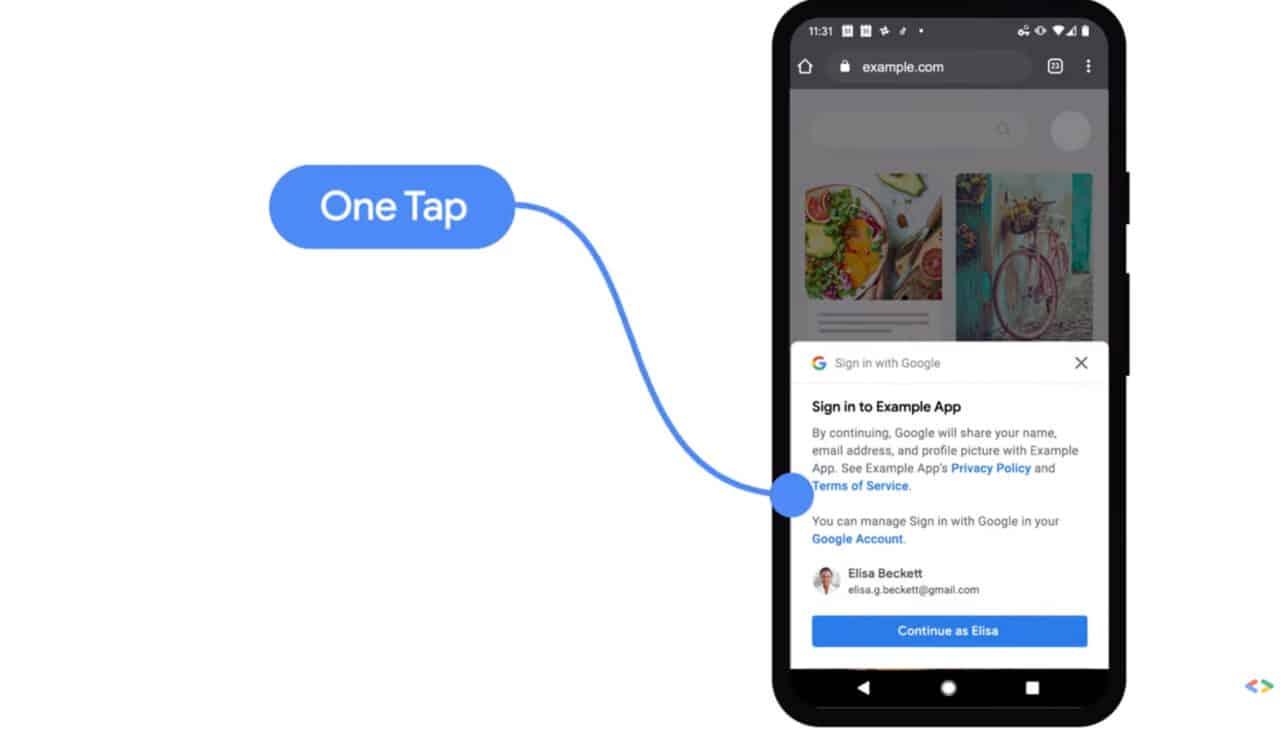 Google introduceert One Tap login met beveiligingstokens