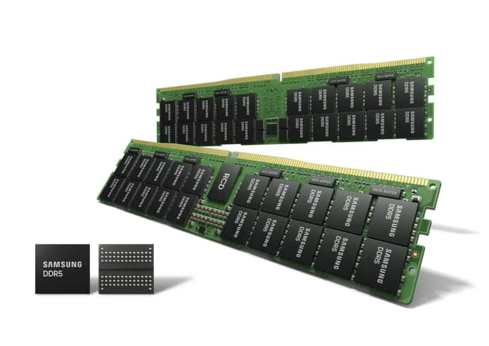 Samsung start massaproductie 14nm EUV DDR5 DRAM-geheugen