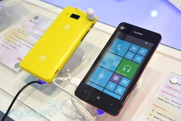 Huawei toont Ascend W2 op Mobile Asia beurs
